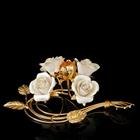 Подсвечник Golden Flowers на одну свечу