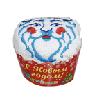 """Полотенце сувенирное с вышивкой """"Collorista"""" Дед Мороз 28 х 28 см хлопок"""