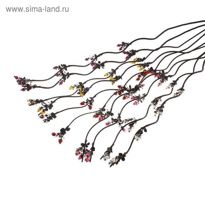 "Декоративная ветка ""Аквилегия"" (микс)"