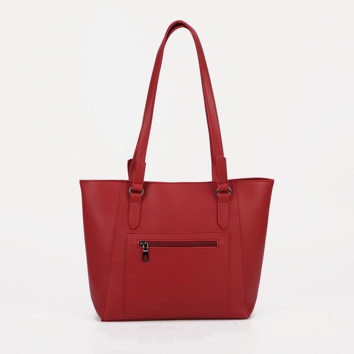 Сумка женская, отдел на молнии, наружный карман, цвет бордовый - фото 781837