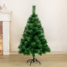 Кедр зеленый 120 см, d нижнего яруса 80 см, d иголок 10 см, 110 веток, металл подставка