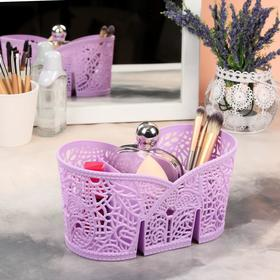 Basket d/storage cosmetic 10,5 t*a 19.5*10cm MIX