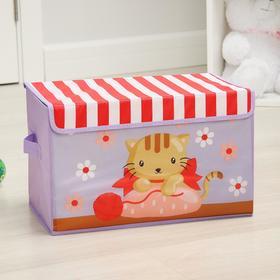 "Короб для хранения с крышкой 40х25х25 см ""Котя"""