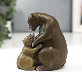 "Сувенир полистоун ""Медведица и медвежонок"" набор 2 шт 11,5х7х11 см"