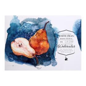 """Альбом для акварели """"Малевичъ"""" White Swan, 230 x 320 мм., 200 г/м², 20 листов, на склейке"""
