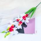 """Цветы искусственные """"Белая орхидея Дендробиум"""""""
