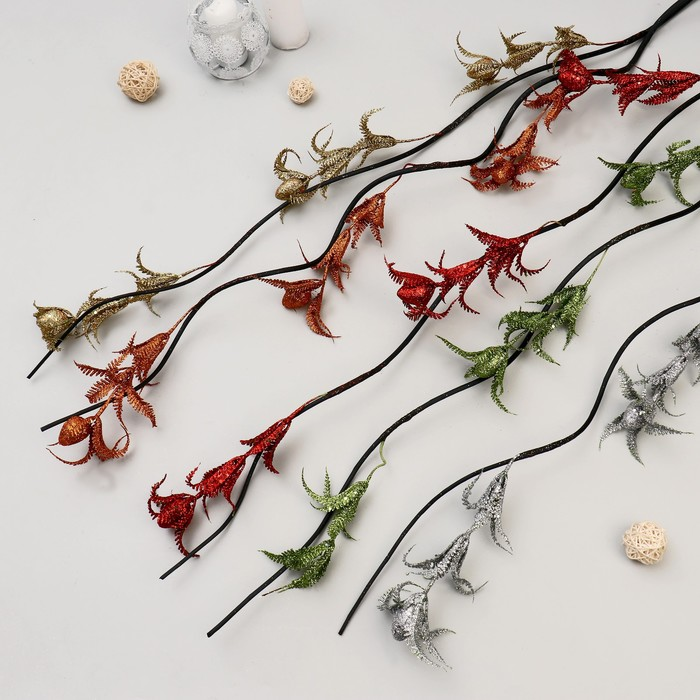 """Декор ветка """"Лоза тюльпаны блеск"""" 160 см (цена за 1 шт), микс"""