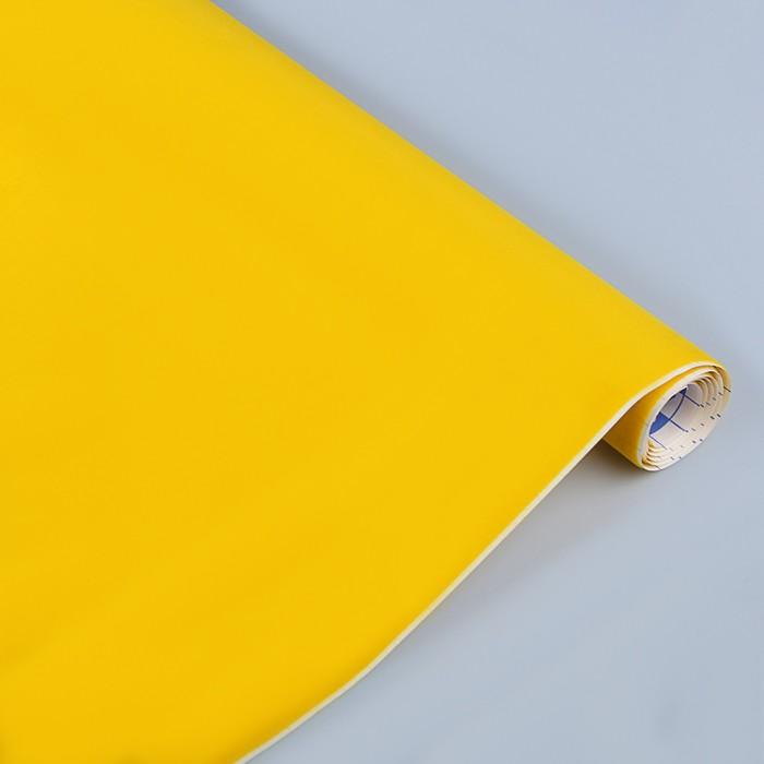 Пленка самоклеящаяся бархатная 0.45 х 1 м Sadipal жёлтая 06719