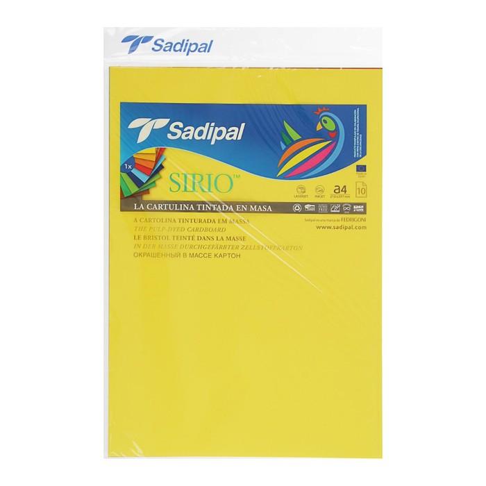 Картон цветной, набор, 210 х 297 мм, Sadipal Sirio, 170 г/м2, 10 листов х 10 цветов, яркие цвета - фото 366920295