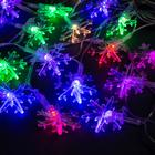 "THREAD 5m on the stem. ""Large snowflakes"", N.With. LED-20-220V, blinking, MULTI"