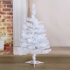 Tree white 60 cm, d of the lower tier 34 cm, d 5 cm needle, 60 branches, plastic stand