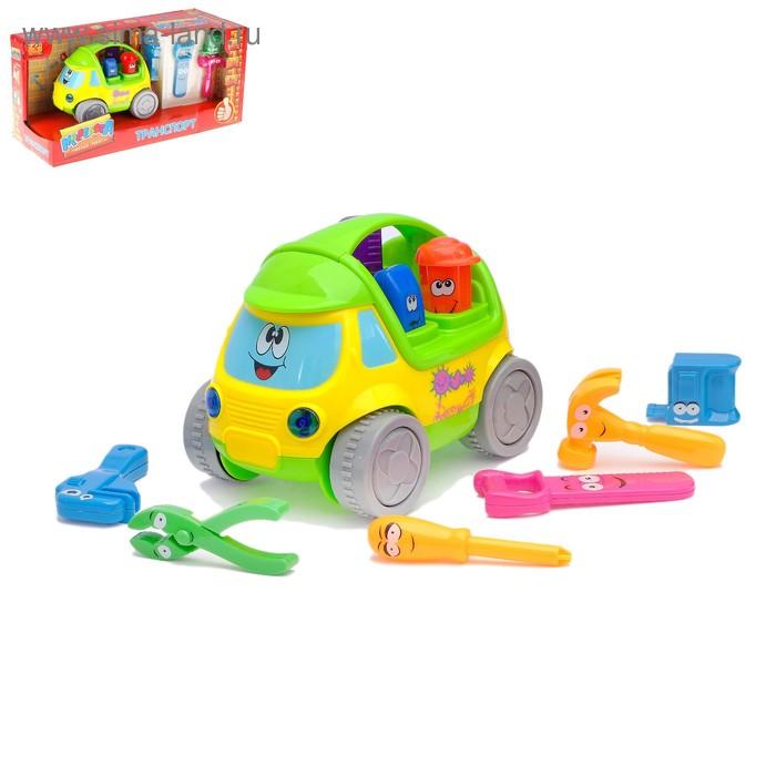 """Машина """"Забавная тачка"""", с инструментами, световые и звуковые эффекты, работает от батареек"""