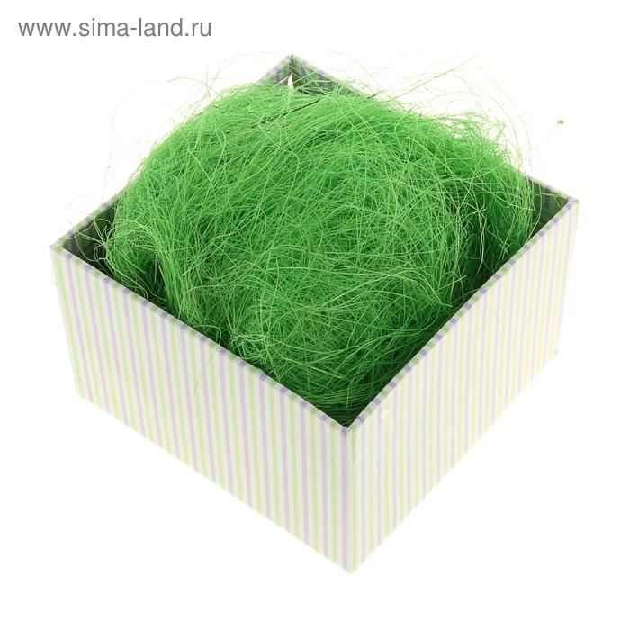 Наполнитель декоративный 50 гр зеленый, сизаль