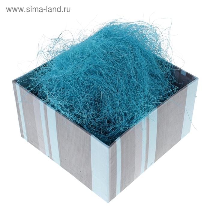 Наполнитель декоративный 50 гр голубой, сизаль