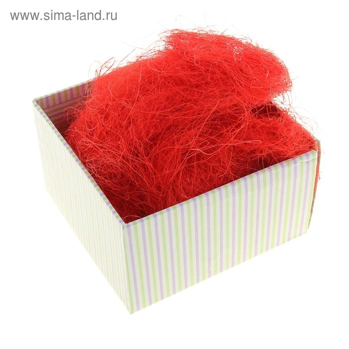 Наполнитель декоративный 50 гр красный, сизаль