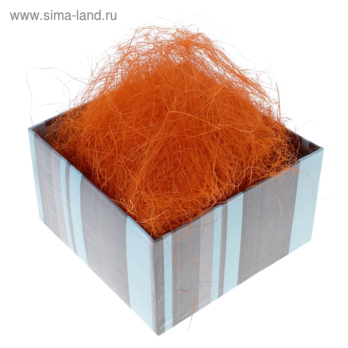 Наполнитель декоративный 50 гр оранжевый, сизаль