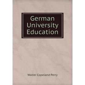 Книга German University Education
