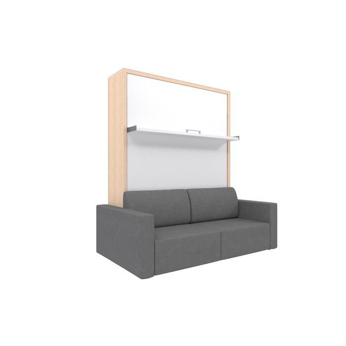 Комплект-трансформер Ника Кровать 1400х2000 + диван серый/дуб - фото 7672650