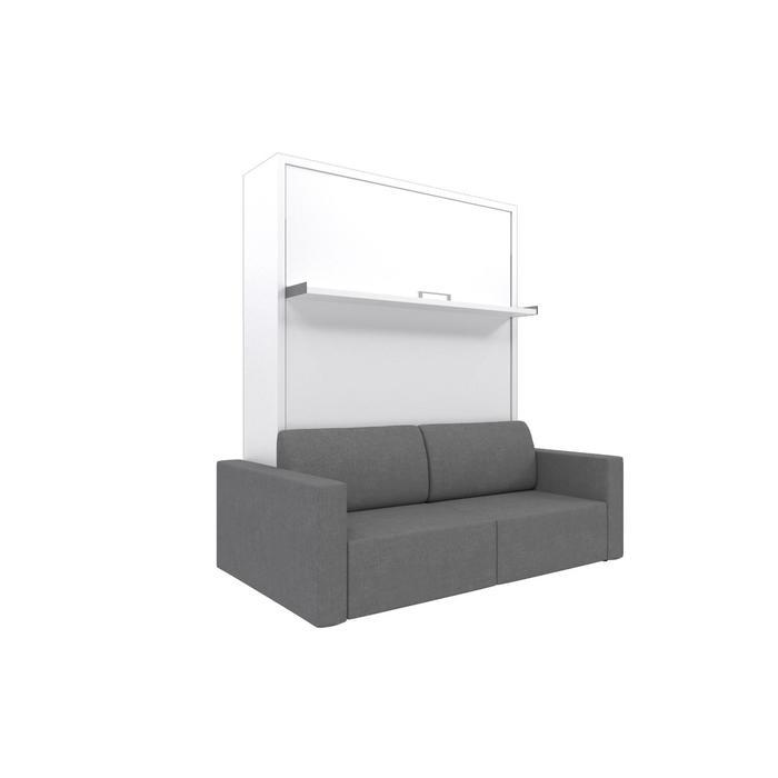 Комплект-трансформер Ника Кровать 1600х2000 + диван серый/белый - фото 7672654