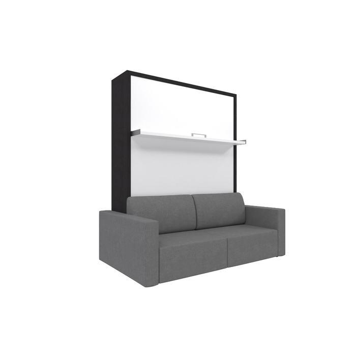 Комплект-трансформер Ника Кровать 1600х2000 + диван серый/венге - фото 7672656