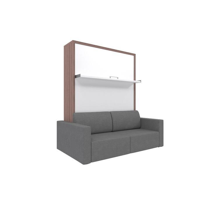 Комплект-трансформер Ника Кровать 1600х2000 + диван серый/ясень - фото 7672660