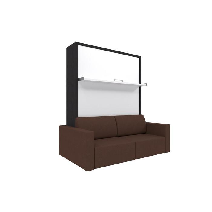 Комплект-трансформер Ника Кровать 1400х2000 + диван коричневый/венге - фото 7672664
