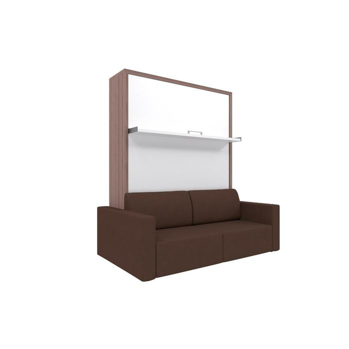 Комплект-трансформер Ника Кровать 1400х2000 + диван коричневый/ясень - фото 7672668