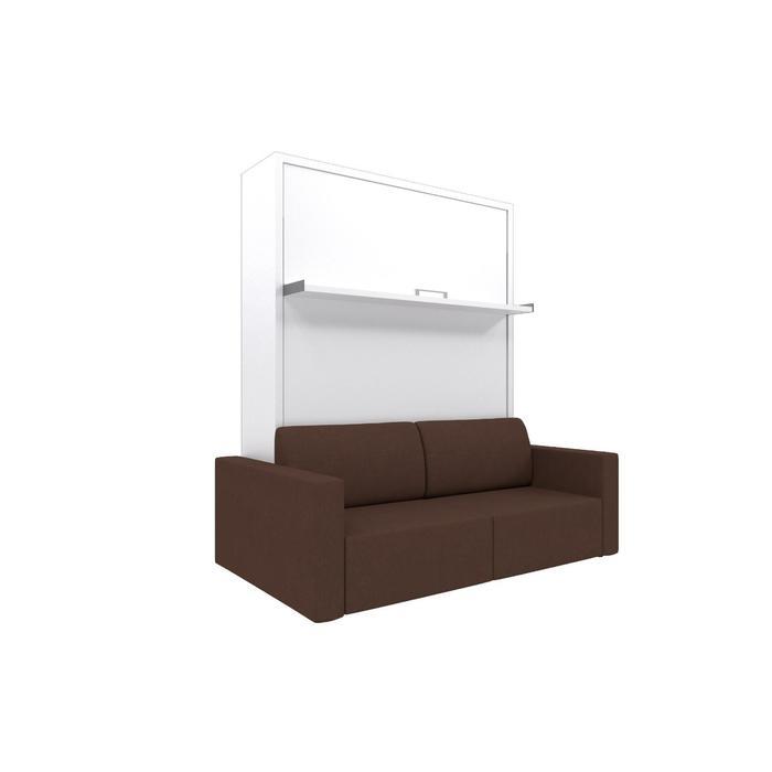 Комплект-трансформер Ника Кровать 1600х2000 + диван коричневый/белый - фото 7672670