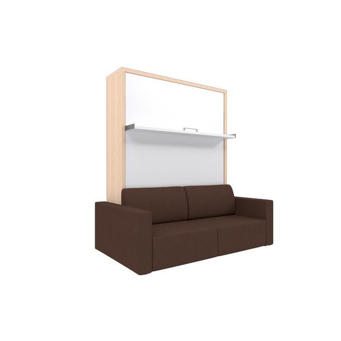 Комплект-трансформер Ника Кровать 1600х2000 + диван коричневый/дуб - фото 7672674
