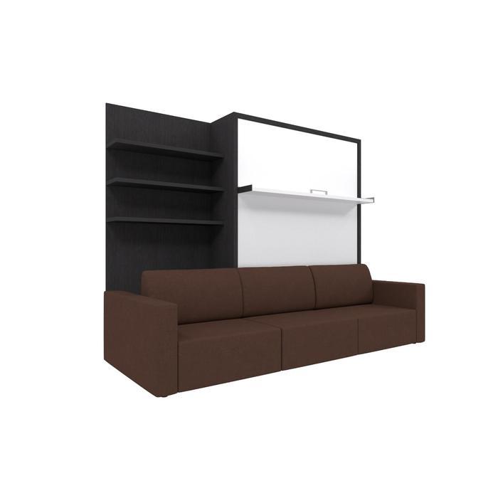 Комплект-трансформер с полкой  Ника Кровать 1400х2000 + диван коричневый/венге - фото 7672696
