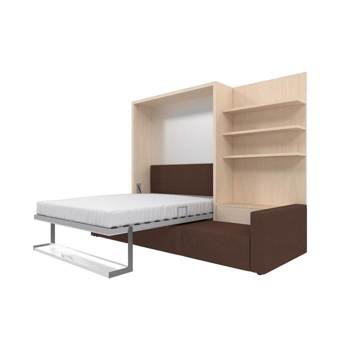 Комплект-трансформер с полкой  Ника Кровать 1600х2000 + диван коричневый/дуб - фото 7672706