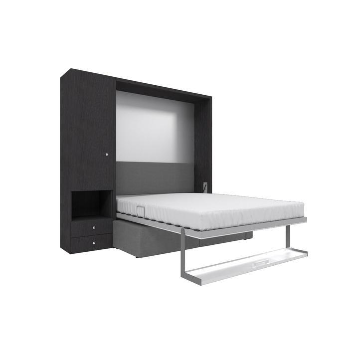 Комплект-трансформер со шкафом  Ника Кровать 1600х2000 + диван серый/венге - фото 7672720