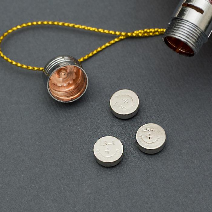 "Подвеска световая ""Звезда"",8 см, батарейки в комплекте"