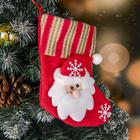 """Носок для подарка """"Дед Мороз и снежинки"""" 15 х 13 см"""