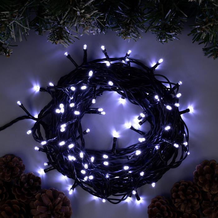 """Гирлянда """"Нить"""" уличная, 10 м, LED-100-220V, 8 режимов, свечение белое"""