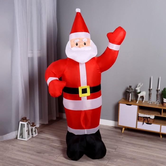 """Надувная фигура """"Дед Мороз"""" приветствует, 180 см - фото 875803"""