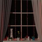 """Гирлянда """"Водопад"""" 2 х 1.5 м , IP20, прозрачная нить, 400 LED, свечение красное, 8 режимов, 220 В - фото 1567544"""