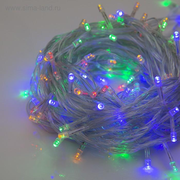 """Гирлянда """"Метраж"""" 13 м, нить силикон, LED-150-220V, контроллер 8 режимов, МУЛЬТИ"""