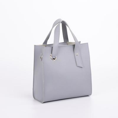 Women's bag Gloria, 28*10*30, zippered otd, grey-blue