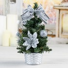 Tree decoration 20 cm snow balls silver