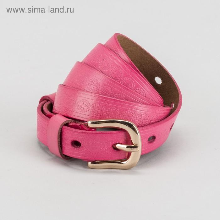 """Ремень женский """"Антуанет"""" рисунок, пряжка и винт под золото, ширина 1,5см, цвет розовый"""