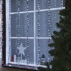 """Гирлянда """"Водопад"""" уличная, 2 х 1.5 м, LED-400-220V, 8 режимов, нить тёмная, свечение белое"""