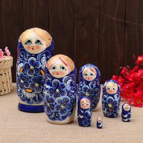 """Матрёшка 7-ми кукольная """"Зина""""  , 23-25см, ручная роспись."""