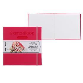 Скетчбук для графики и маркеров, 140 х 140 мм, «Малевичъ», Bristol Touch, 40 листов, 180 г/м², малиновая обложка