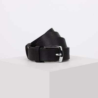 Children's belt, 2.5*0.3*90cm, smooth, metal buckle, black
