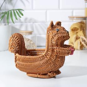 Корзинка для фруктов и хлеба Доляна «Белочка», 31×15×23 см