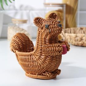 Корзинка для фруктов и хлеба Доляна «Белочка», 21×11,5×16 см
