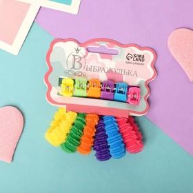 Набор для волос 'Махрушка' (6 резинок, 6 крабов) ребристая радуга Ош
