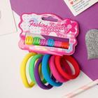 "Hair set ""Sport"" (6 elastic bands, 6 crabs) rainbow"