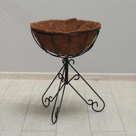 "Floor planter ""Sphere"", d = 44 cm, with coconut liner"